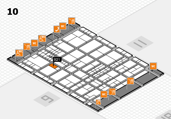interpack 2017 hall map (Hall 10): stand B21