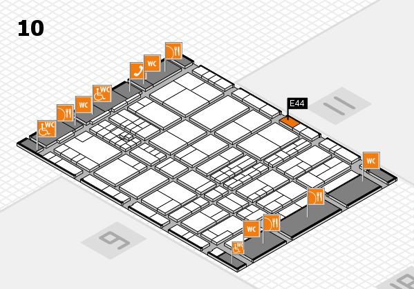 interpack 2017 Hallenplan (Halle 10): Stand E44