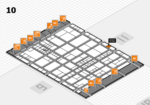 interpack 2017 hall map (Hall 10): stand E52