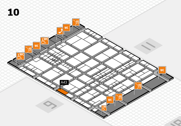 interpack 2017 hall map (Hall 10): stand A43