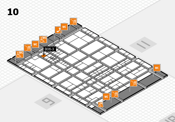 interpack 2017 hall map (Hall 10): stand B06-3
