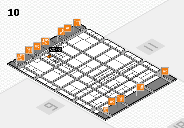 interpack 2017 hall map (Hall 10): stand C07-3