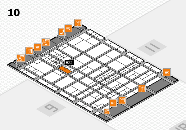 interpack 2017 hall map (Hall 10): stand B22