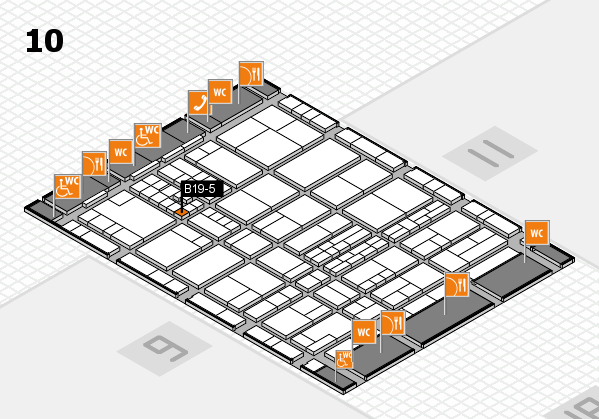interpack 2017 hall map (Hall 10): stand B19-5