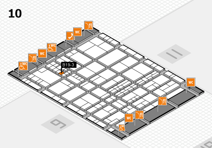interpack 2017 hall map (Hall 10): stand B19-3