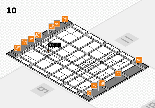 interpack 2017 hall map (Hall 10): stand B19-13