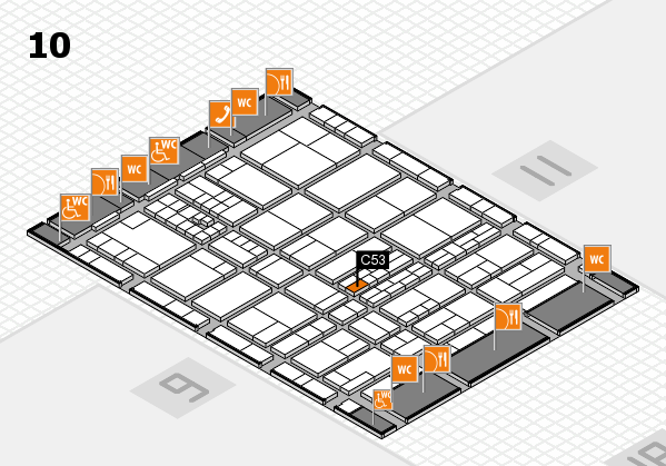 interpack 2017 hall map (Hall 10): stand C53