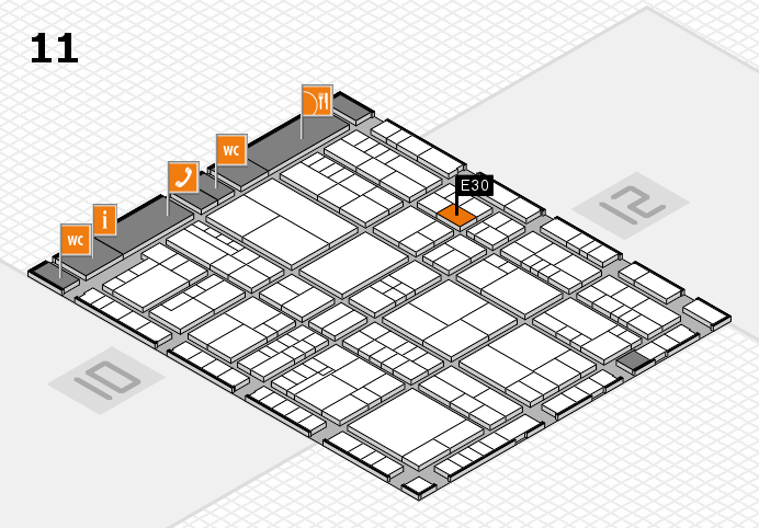 interpack 2017 hall map (Hall 11): stand E30