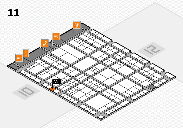 interpack 2017 hall map (Hall 11): stand A31