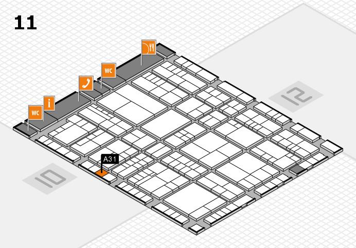 interpack 2017 Hallenplan (Halle 11): Stand A31