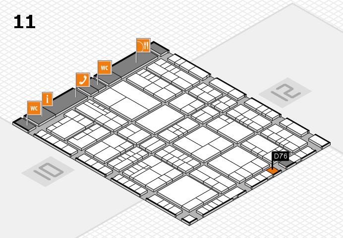 interpack 2017 Hallenplan (Halle 11): Stand D76