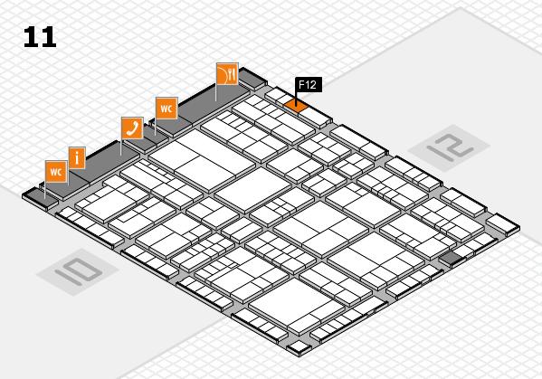 interpack 2017 Hallenplan (Halle 11): Stand F12