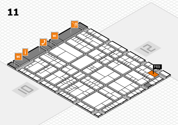 interpack 2017 hall map (Hall 11): stand F69