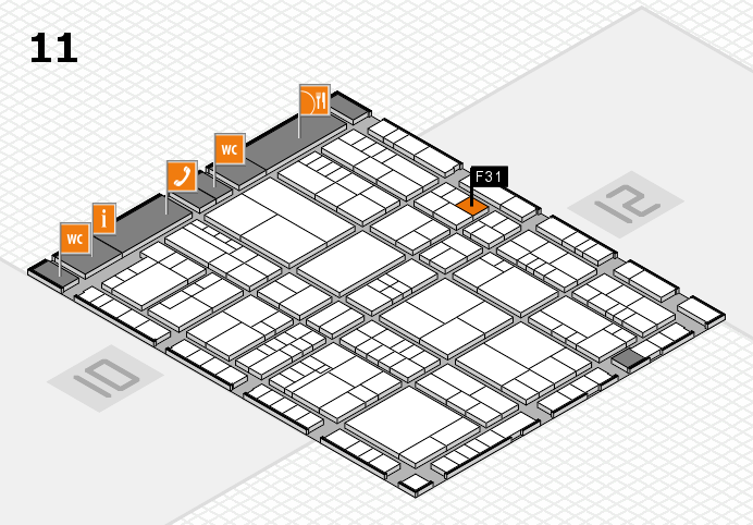 interpack 2017 hall map (Hall 11): stand F31