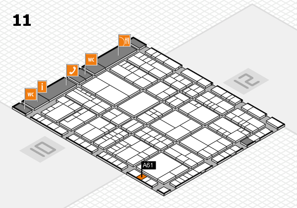 interpack 2017 hall map (Hall 11): stand A61