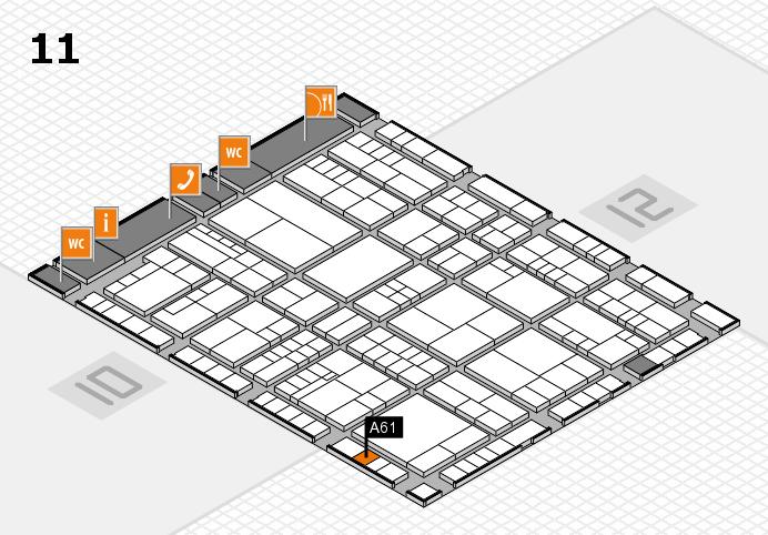interpack 2017 Hallenplan (Halle 11): Stand A61
