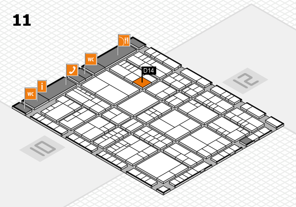 interpack 2017 hall map (Hall 11): stand D14