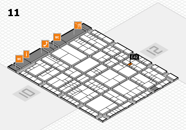 interpack 2017 hall map (Hall 11): stand E42