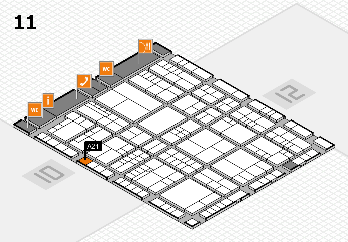 interpack 2017 hall map (Hall 11): stand A21