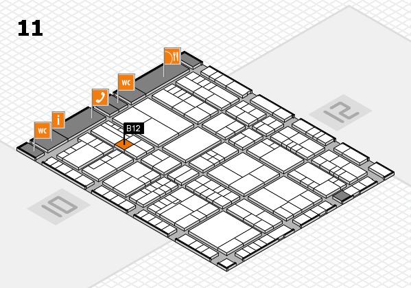 interpack 2017 Hallenplan (Halle 11): Stand B12