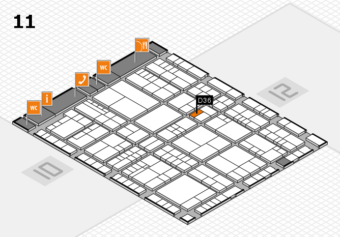 interpack 2017 hall map (Hall 11): stand D36