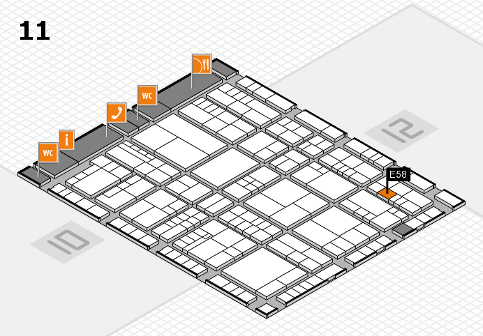 interpack 2017 hall map (Hall 11): stand E58