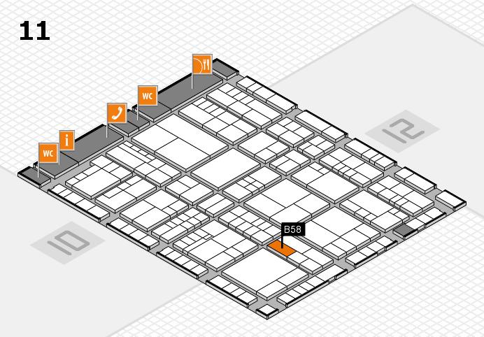 interpack 2017 Hallenplan (Halle 11): Stand B58