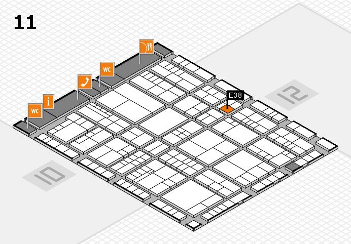 interpack 2017 Hallenplan (Halle 11): Stand E38