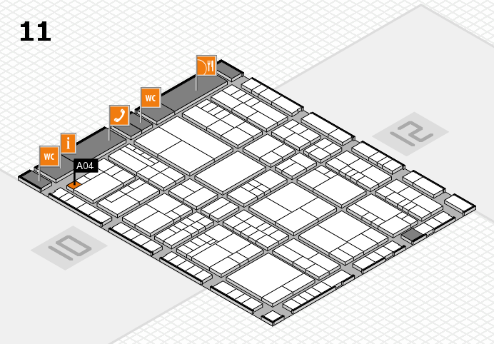 interpack 2017 hall map (Hall 11): stand A04