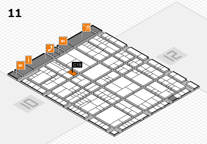 interpack 2017 hall map (Hall 11): stand C19