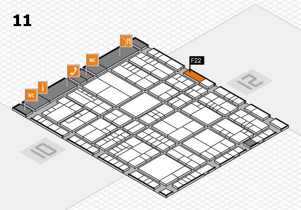 interpack 2017 Hallenplan (Halle 11): Stand F22