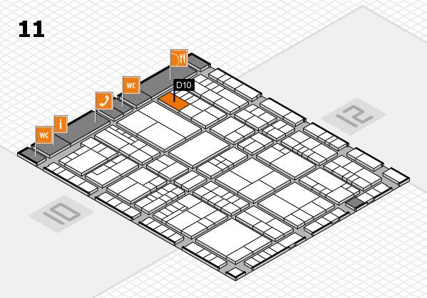 interpack 2017 Hallenplan (Halle 11): Stand D10