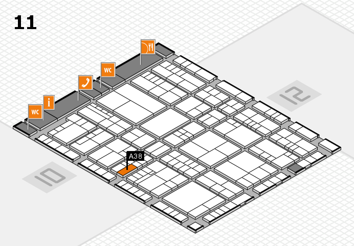 interpack 2017 hall map (Hall 11): stand A38