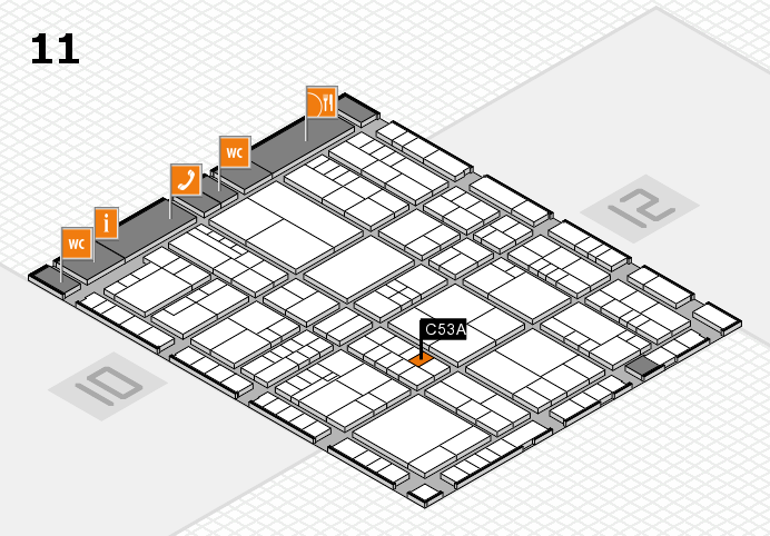 interpack 2017 hall map (Hall 11): stand C53A