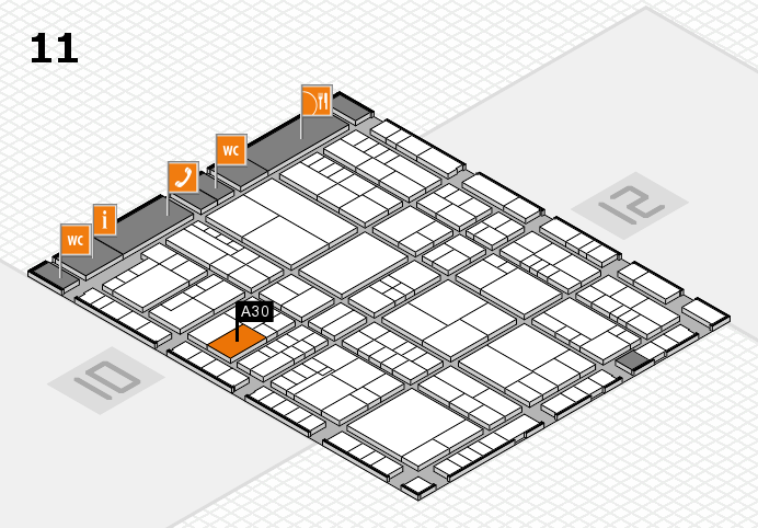 interpack 2017 hall map (Hall 11): stand A30