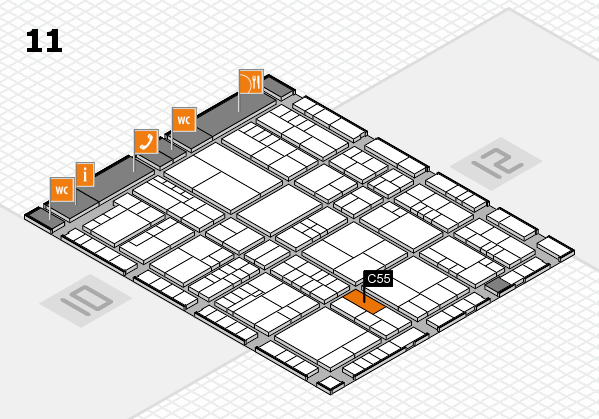interpack 2017 hall map (Hall 11): stand C55