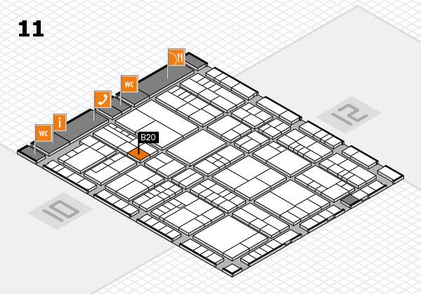 interpack 2017 Hallenplan (Halle 11): Stand B20