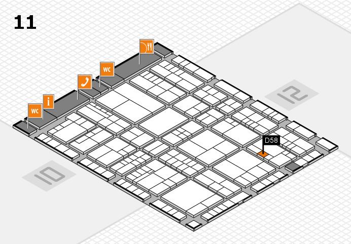 interpack 2017 Hallenplan (Halle 11): Stand D58