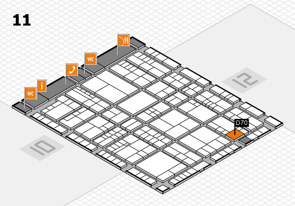 interpack 2017 hall map (Hall 11): stand D70