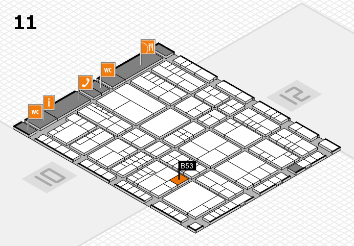 interpack 2017 hall map (Hall 11): stand B53