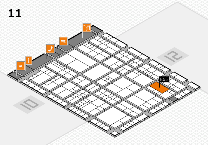 interpack 2017 hall map (Hall 11): stand E55