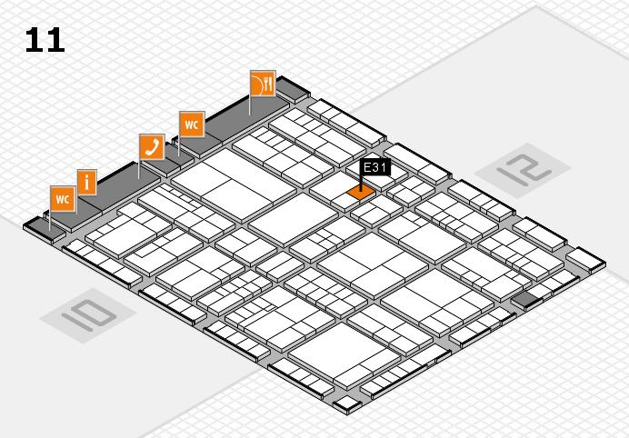 interpack 2017 Hallenplan (Halle 11): Stand E31