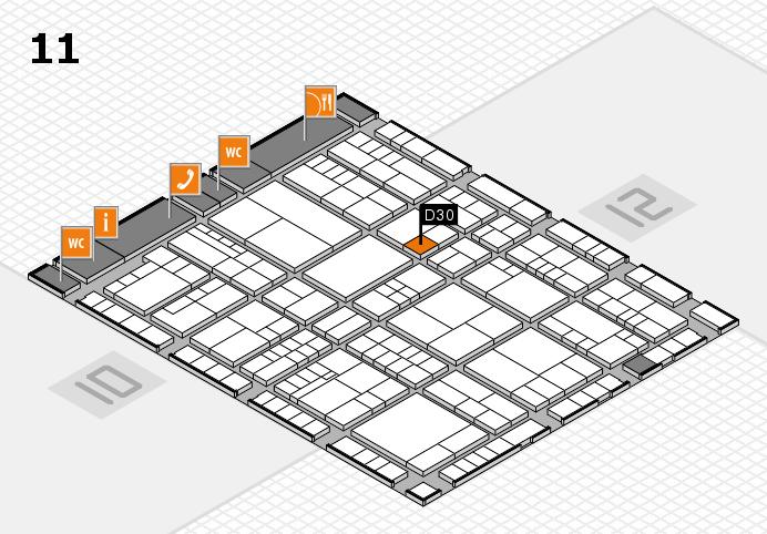 interpack 2017 Hallenplan (Halle 11): Stand D30