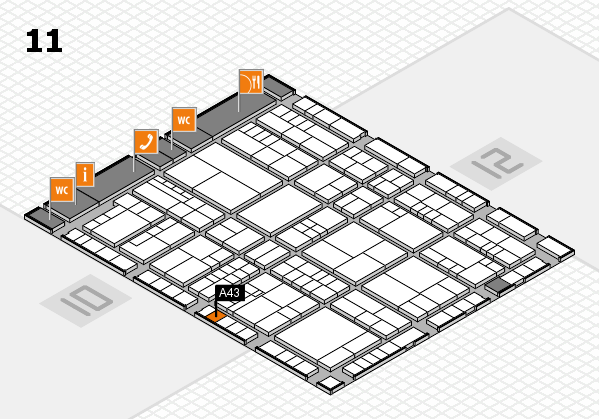 interpack 2017 hall map (Hall 11): stand A43