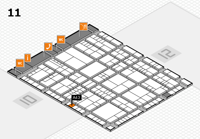 interpack 2017 Hallenplan (Halle 11): Stand A43