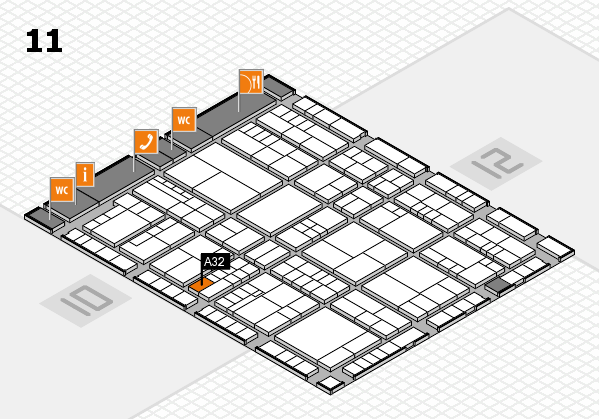 interpack 2017 hall map (Hall 11): stand A32