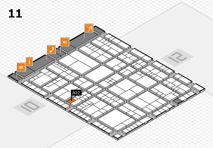 interpack 2017 Hallenplan (Halle 11): Stand A32