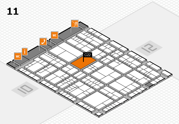 interpack 2017 hall map (Hall 11): stand C22