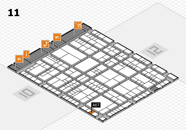 interpack 2017 Hallenplan (Halle 11): Stand A67