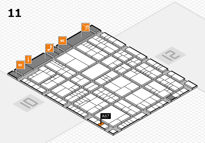 interpack 2017 hall map (Hall 11): stand A67